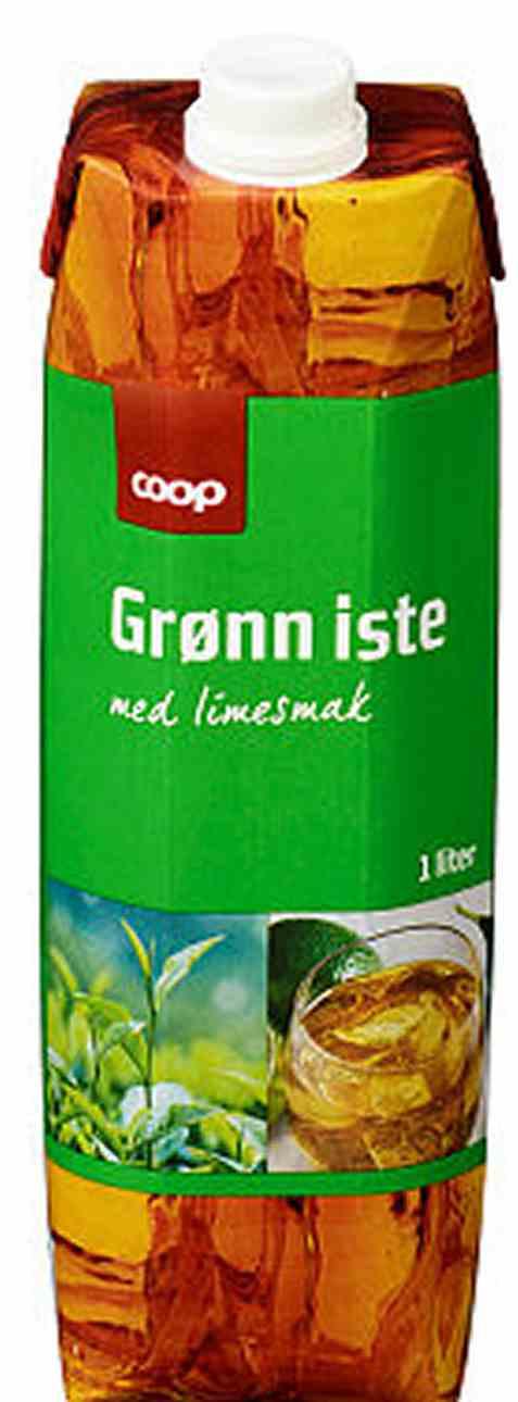 Bilde av Coop grønn iste med limesmak 1l.