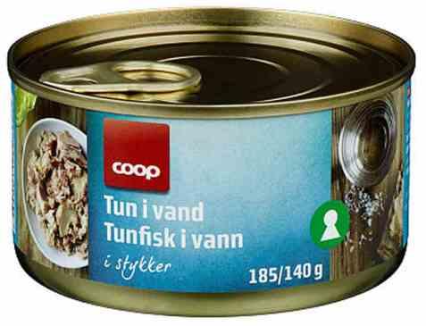Bilde av Coop Tunfisk i biter 185gr.