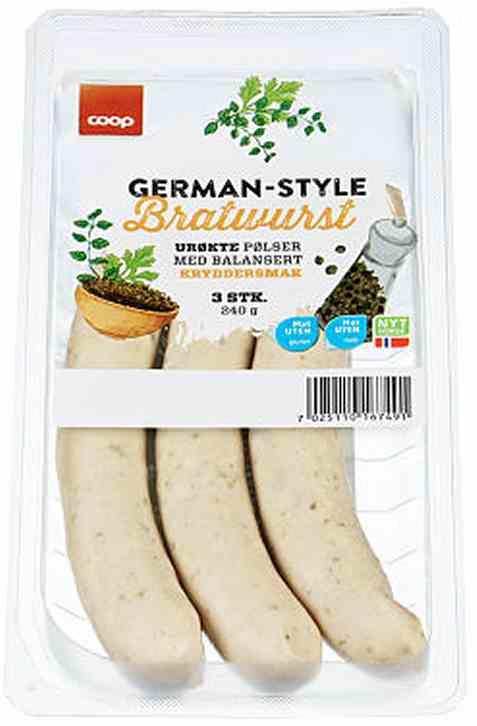Bilde av Coop german style bratwurst 240gr.