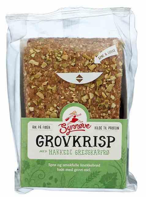 Bilde av Synnøve Grovkrisp med gresskarkjerner 170gr.