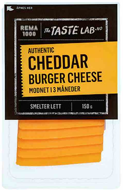 Bilde av Rema 1000 real cheddar Burger Cheese 150g.