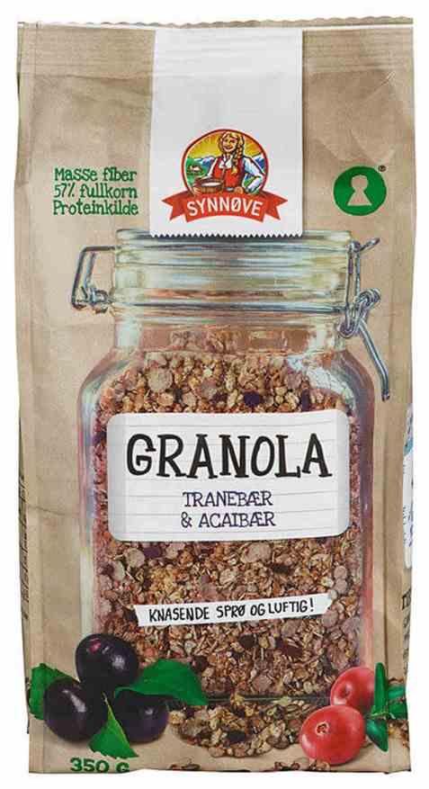 Bilde av Synnøve granola tranebær og vanilje.