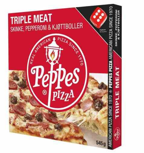 Bilde av Peppes triple meat 545gr.