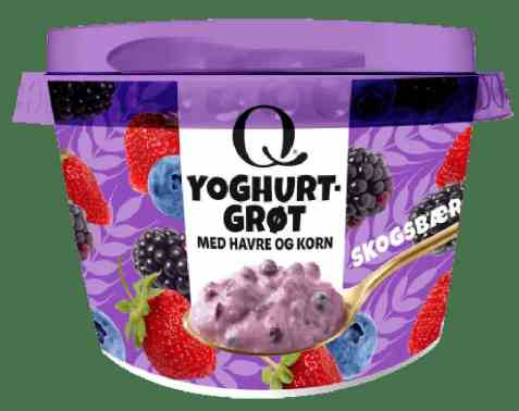 Bilde av Q Yoghurtgrøt Skogsbær.