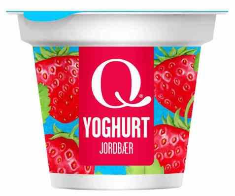 Bilde av Q Yoghurt jordbær 125gr.
