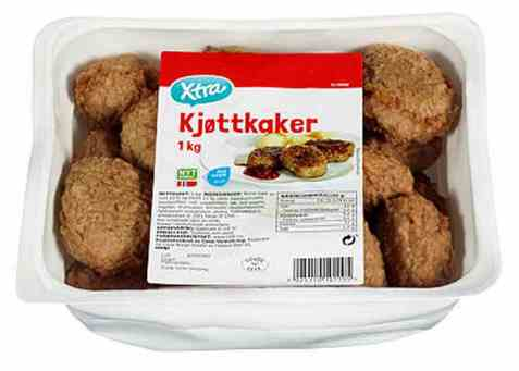 Bilde av Coop xtra kjøttkaker 1kg.