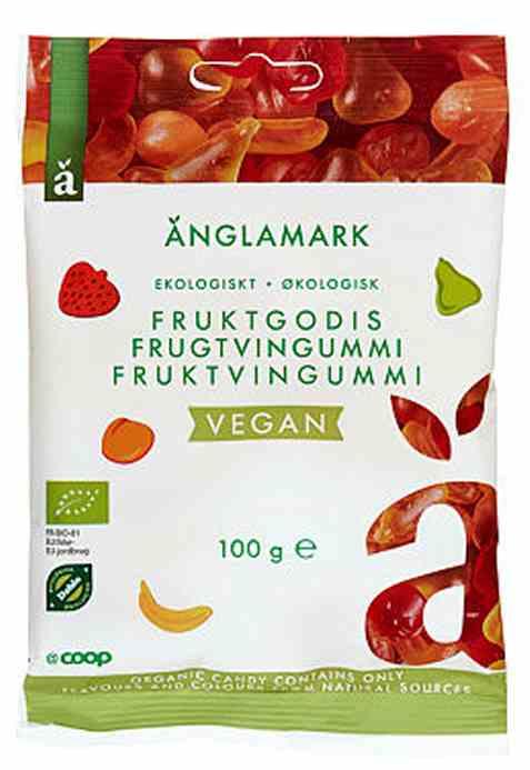 Bilde av Coop anglamark Økologisk vegansk fruktvingummi.