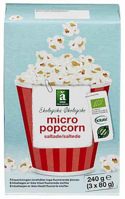 Bilde av Coop anglamark Økologisk micro popcorn 240gr.
