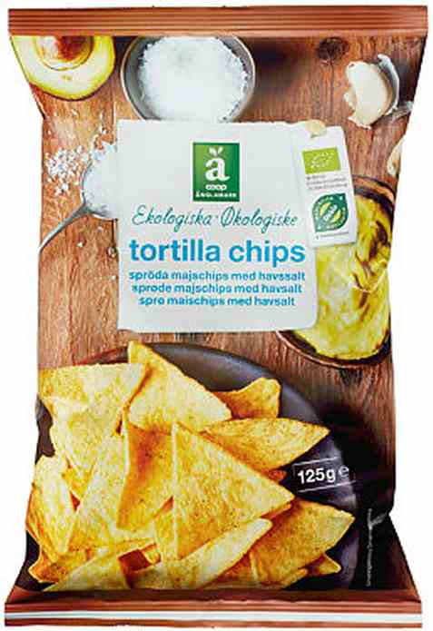 Bilde av Coop anglamark Økologiske tortilla chips.