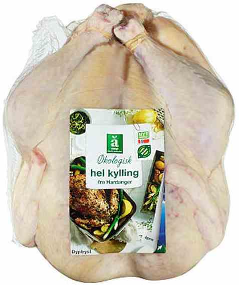 Bilde av Coop anglamark Økologisk heil kylling ca 2,1kg.