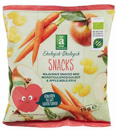 Bilde av Coop anglamark Økologisk mais snacks.