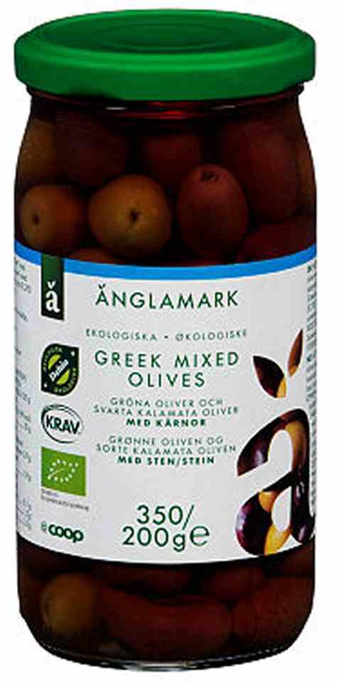 Bilde av Coop anglamark Økologisk mixed greske oliven.