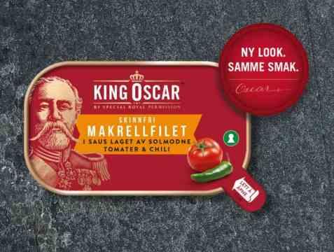 Bilde av King Oscar Makrellfilet i tomat med chili.