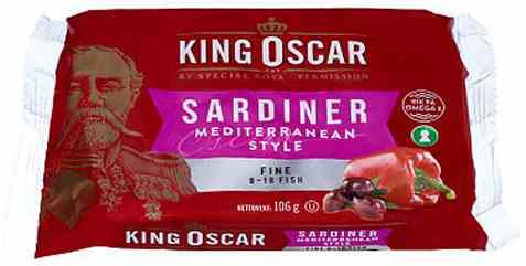 Bilde av King Oscar sardiner mediterranean style 106gr.