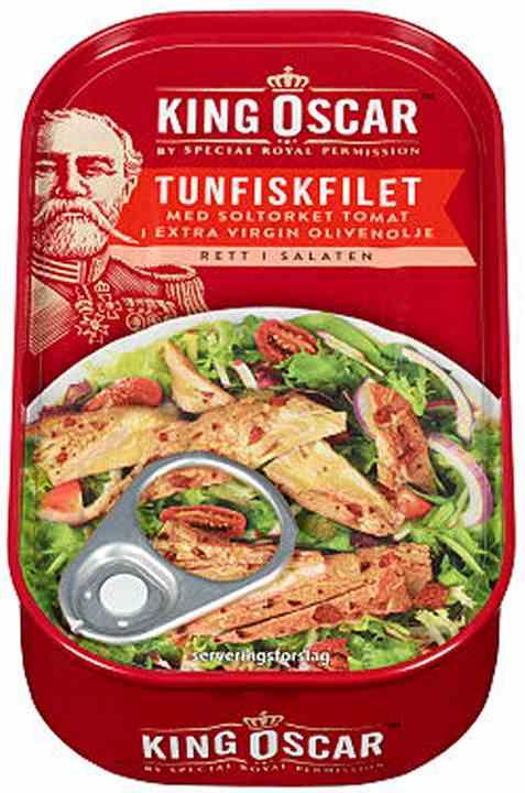Bilde av King Oscar tunfiskfilet med soltørkede tomater.