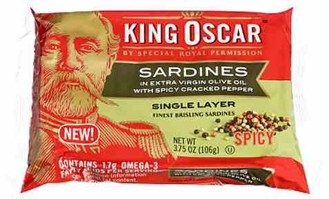 Bilde av King Oscar sardiner i olivenolje med pepper.