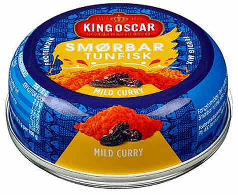 Bilde av King Oscar smørbar tunfisk mild curry.