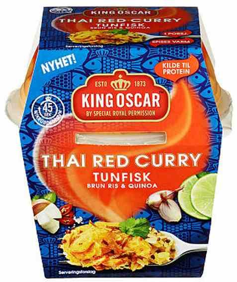 Bilde av King Oscar tunfisk og ris med thai red curry.