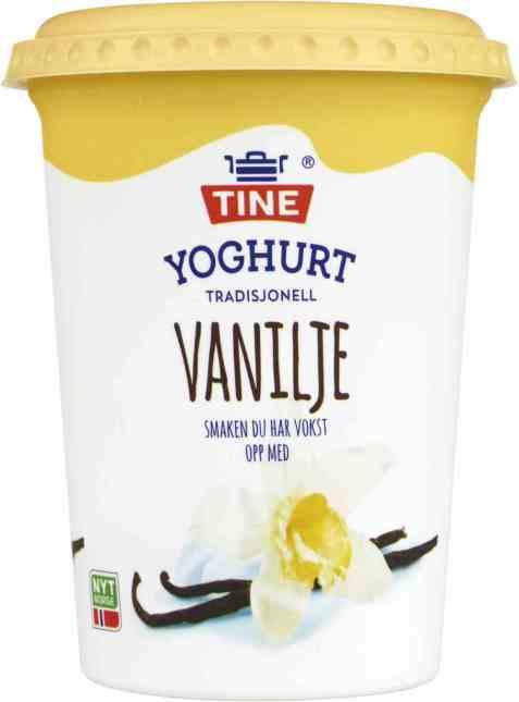 Bilde av TINE Yoghurt Vanilje.