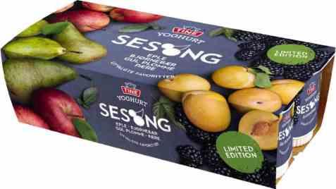 Bilde av TINE Yoghurt høstfrisk Rødt eple.