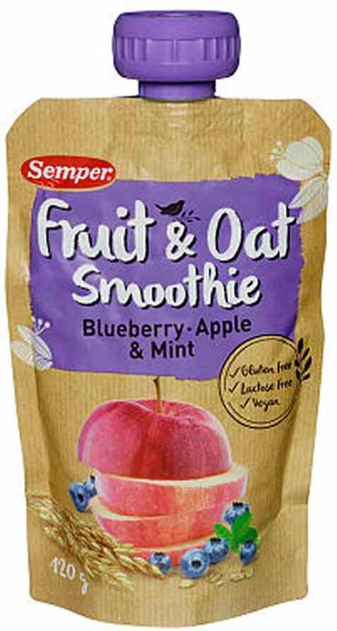 Bilde av Semper Smoothie blåbær og eple.