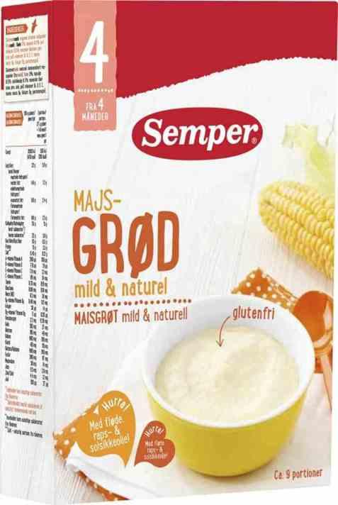 Bilde av Semper maisgrøt naturell 4mnd.