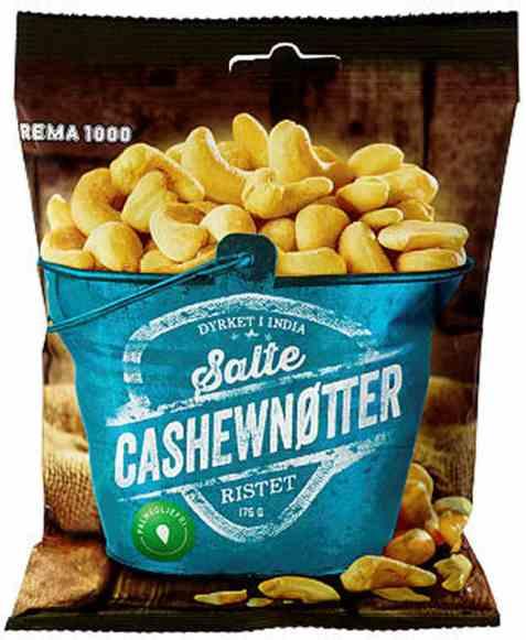 Bilde av Rema 1000 cashewnøtter 175gr.
