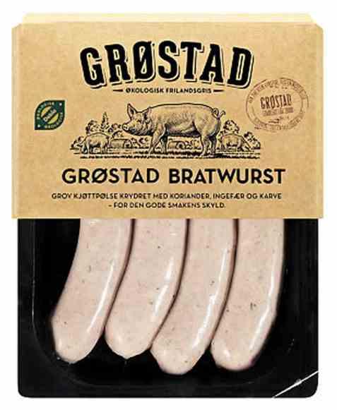 Bilde av Grøstadgris bratwurst 333gr.