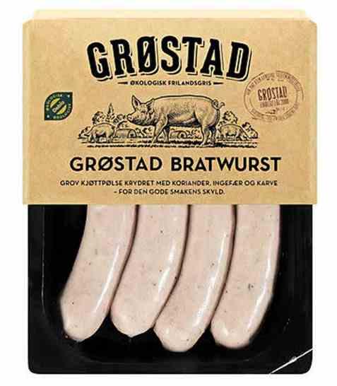Bilde av Grøstadgris Urøkt bratwurst.