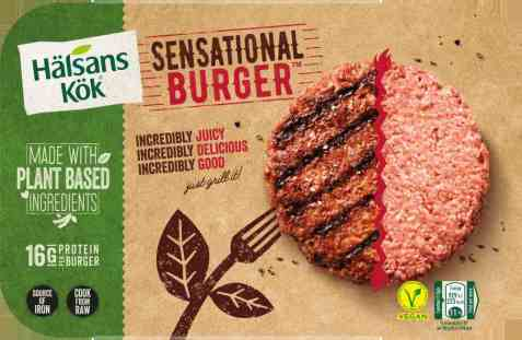 Bilde av Halsans kok Sensational burger.