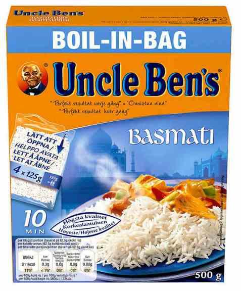 Bilde av Uncle Bens boil in bag basmatiris 500gr.