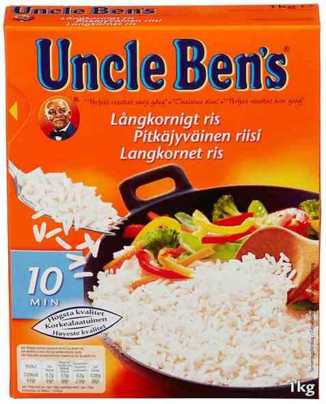 Bilde av Uncle Bens ris langkornet.