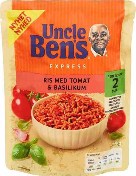 Bilde av Uncle Bens express tomat og basilikum ris 250gr.