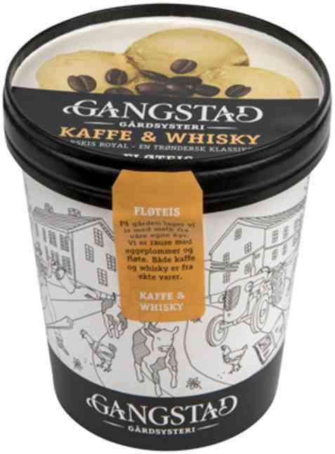 Bilde av Gangstad Kaffe&whiskey Fløteis 500 ml.