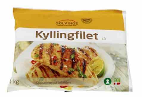 Bilde av Solvinge rå kyllingfilet 1kg.