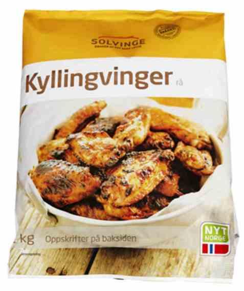 Bilde av Solvinge rå kyllingvinger 2kg.