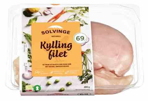 Bilde av Solvinge kyllingfilet 480gr.