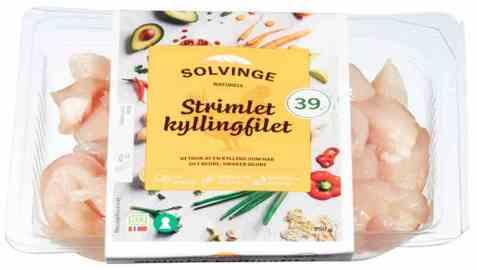 Bilde av Solvinge strimlet kyllingfilet 250gr.