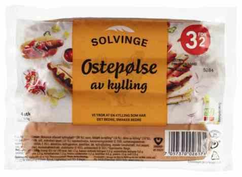 Bilde av Solvinge ostepølse av kylling.
