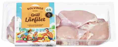 Bilde av Solvinge kylling lårfilet 600gr.