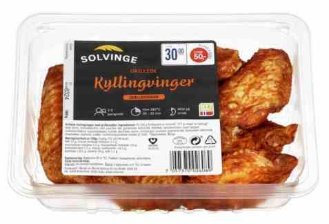 Bilde av Solvinge grillede kyllingvinger 360gr.