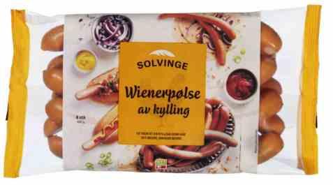 Bilde av Solvinge Wienerpølse av Kylling 450gr.