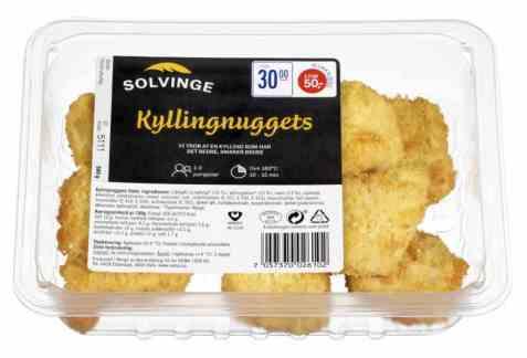 Bilde av Solvinge kylling nuggets 300gr.