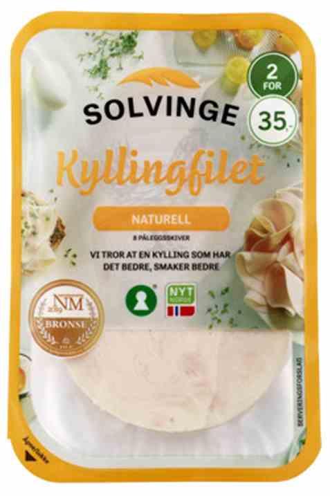 Bilde av Solvinge kyllingfilet naturell 80gr.