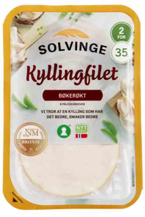 Bilde av Solvinge kyllingfilet Bøkerøkt 80gr.