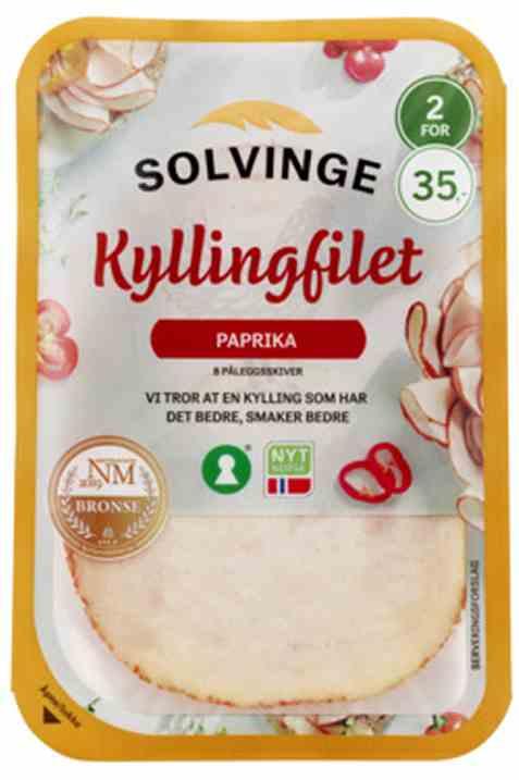 Bilde av Solvinge kyllingfilet med paprika 80gr.