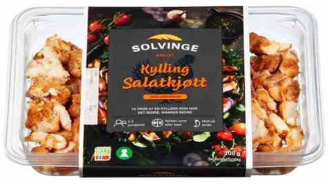 Bilde av Solvinge grillet kylling salatkjøtt.