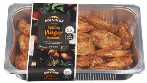 Bilde av Solvinge grillede kyllingvinger med krydder 800gr.