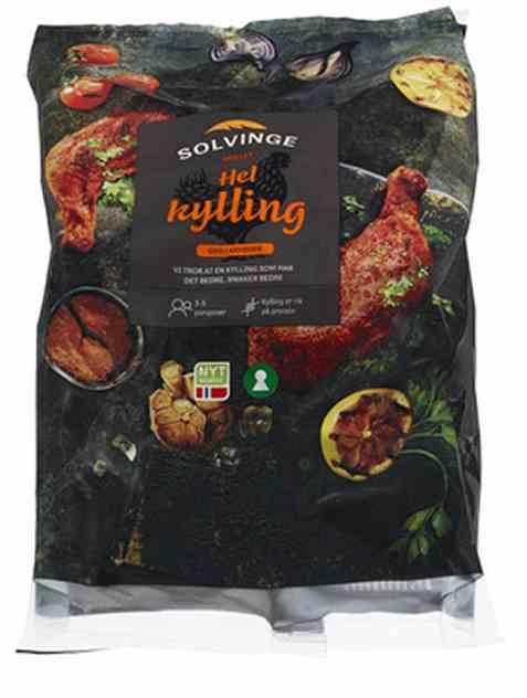 Bilde av Solvinge hel grillet kylling.