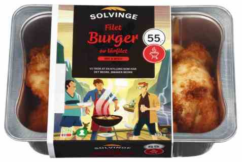 Bilde av Solvinge filet burger av lårfilet 350gr.
